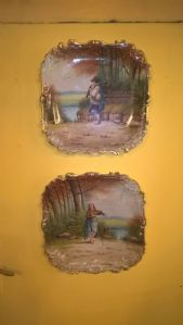 coppia piatti dipinti a mano