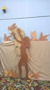 Wood Sculpture Female Figure