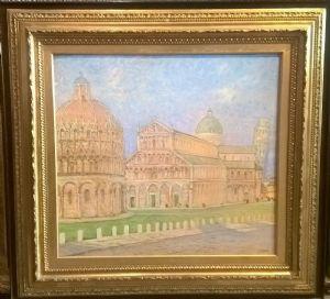"""Galileo Chini """"Piazza dei Miracoli"""" 1940"""