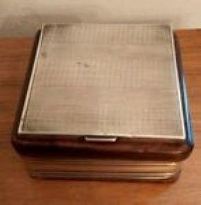 Tabaco em madeira de sarça e perfurado 800 Silver