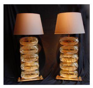 Coppia di lampade Murano