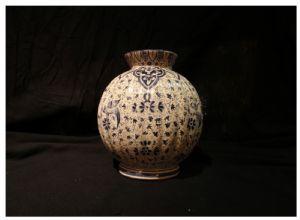 Vaso de cerâmica Clamecy, do século XIX