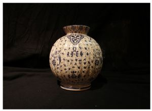 Vaso da Clamecy in ceramica, XIX° secolo