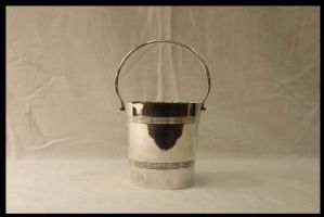 Small Ice Bucket, Silvered Metal, Twentieth Century