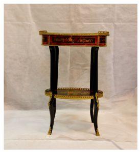 Tavolo di servizio intarsiato, XIX° secolo