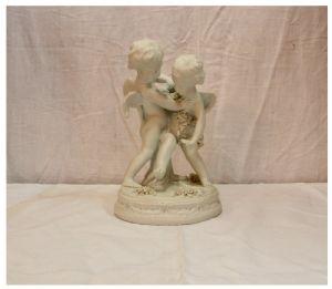 饼干描绘了两个小天使,19世纪/ 20世纪