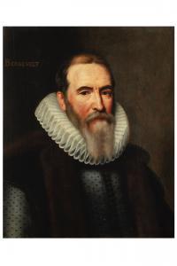 Michiel Mierevelt Retrato de Mr. Bernevelt óleo sobre tabla 61x51 Hacia 1590
