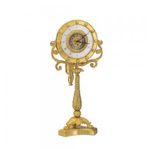Orologio notturno in bronzo dorato al mercurio