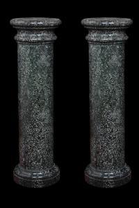 Coppia colonne in pietra dura