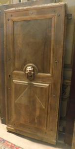 ptcr434 - puerta rústica de nogal, máx. cm l 82 xh 175