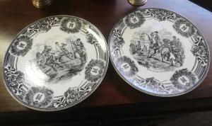 coppia di piatti con cavalieri (Belgio)