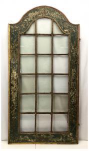 Porta laccata con vetri