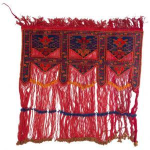 Tappeto-porta di una tenda nomade del Turkmenistan