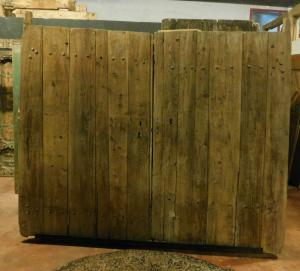 ptn142 rustic door from a mountain house, 228 cm xh 167