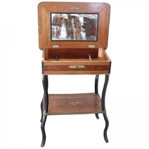 拿破仑三世古董咖啡桌精制镶嵌和镀金青铜19世纪价格可议
