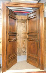 pts356 n. 2 doors with walnut frame one with different frame