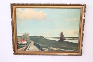 Gemälde antikes Bild mit Rahmen von T Boers frühen 1900 unterzeichnet XX Euro 450 verhandelbar