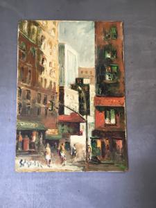 布面油画签名Emanuele Cappello