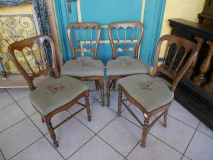 4 sedie in noce, Piemonte metà '800