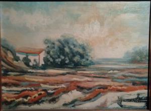 Franco Francese. Paesaggio. Misure cm h. 30x40.