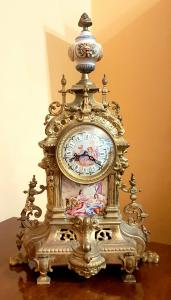 BEAUTIFUL TABLE CLOCK BAROQUE STYLE EARLY 900