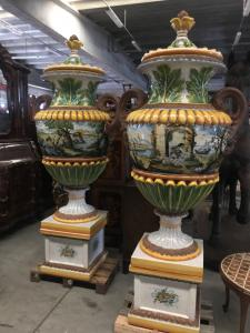 Large vases in pairs 52x52x240h