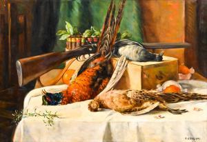 Alfio Paolo Graziani于1940年代创作的大型画布油画
