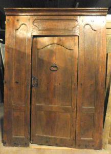 ptci167 antike Tür in Nussbaum, '600, groß. 170 xh 230
