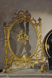 PARASCINTILLE IN FRENCH BRONZE AND PAINTED TRAY