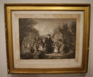 """Antique English print from 1800 """"The Village Pastor"""""""
