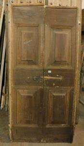 ptcr427 - дверь из орехового дерева с двумя створками, восемнадцатый век, l 93 xh 190 см