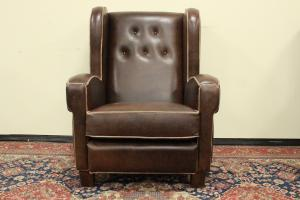 Chesterfield Boston Italian armchair in brown leather