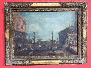 Venezianische Ansicht - Dogenpalast und Insel San Giorgio-