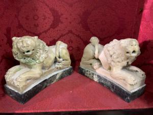 Venetian lions in Carrara marble