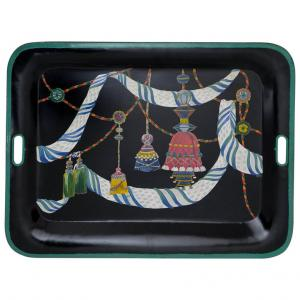 Italian Hand-Painted Metal Tray