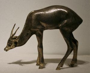 Bronce refinado que representa el antílope.