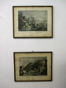 Pair of prints' 700 - XVIII - Giuseppe Zais - F Berardi - 1778 etching print engraving.
