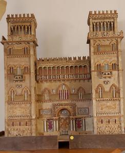 Castillo en calado de madera de 1910/20