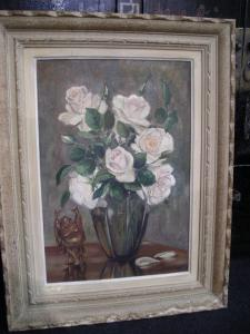 PAINTED OIL ON CANVAS WITH FRAME COEVA SIGNED C.CANALDA 1920