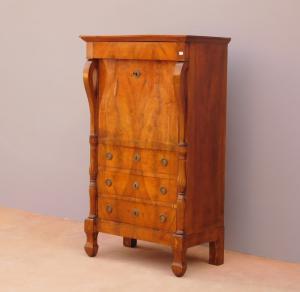 Italian Empire writing desk, walnut, wooden top, mid 19th century!