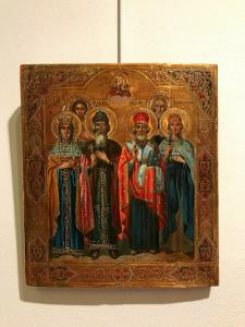 Icon depicting four saints - lot 10