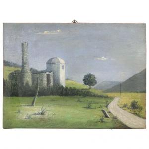 Живопись маслом на холсте пейзаж подписан и датирован 1939 г. ОТДЕЛЬНАЯ ЦЕНА