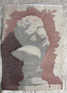 Watercolor drawing in pencil on cardboard depicting a marble bust.Signed and dated 1919 (Arturo Pietra archive).