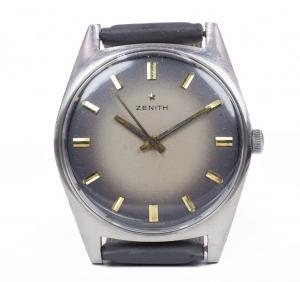 Orologio da polso vintage Zenith in acciaio, anni 70
