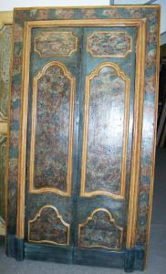 Door with seventeenth-century marbled wall frame or cabinet