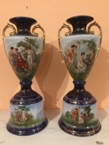 Pair of ceramic vases from France