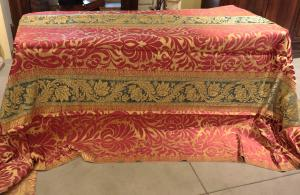 Silk brocatello fabric, Lucca, XVIIth Century 4x4m 16 / MQ