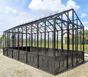 Serra da giardino in ferro battuto e vetro - 3 x 6 mt