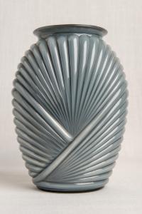 Vaso in vetro grigio Déco