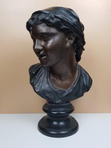 Vincenzo Gemito(那不勒斯1852年-1929年)CARMELA-青铜雕塑